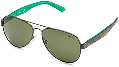 Polo Ralph Lauren - Gafas de sol Mod.3096 para hombre, Camo green/Gray-green