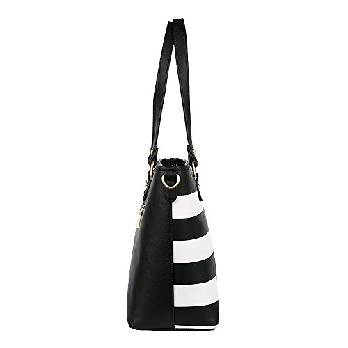 House of Envy House Of Envy Classy Shopper Stripe Versandkostenf, Borsa a spalla donna taglia unica Black White