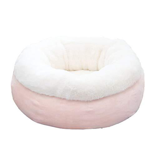 Waschbares Hundebett Pet Bed Round Katze Nest Teddy Kennel Vier Jahreszeiten Universal Small Pet Bett Pink Hundekörbchen (größe : S)