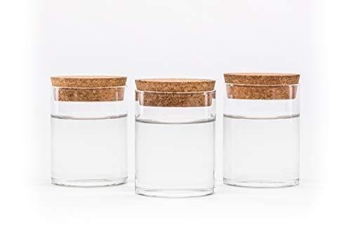 casa-vetro 6 12 oder 24 x 50 ml kleine Mini Vorratsgläser Set Vorratsdose Glasfläschen Flasche Glas klar Deko Blumen-Vase Hochzeit (24 Stück) (Vasen Perlen Glas Für)