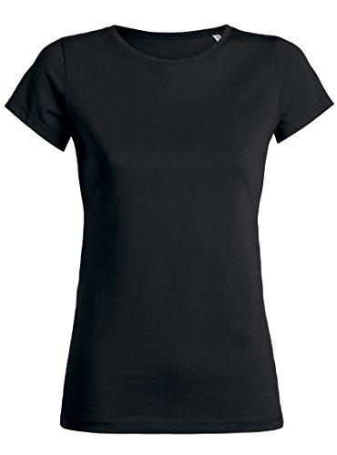 Maratus Damen T-Shirt Aus Bio-Baumwolle mit Rundhals Fair Wear Schwarz