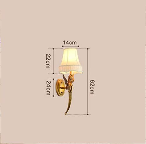 FJTXC Exquisite Dauerlicht in Kupfer, Wohnzimmer Balkon Haus Nacht, Korridor Gang Duplex Villa Wand Ehe Raumdekoration Dauerhafte Engineering Chief Single E14,62 * 22Cm Mode,62 * 22 cm