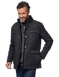 Debenhams Maine New England Men Grey Herringbone Quilted Jacket