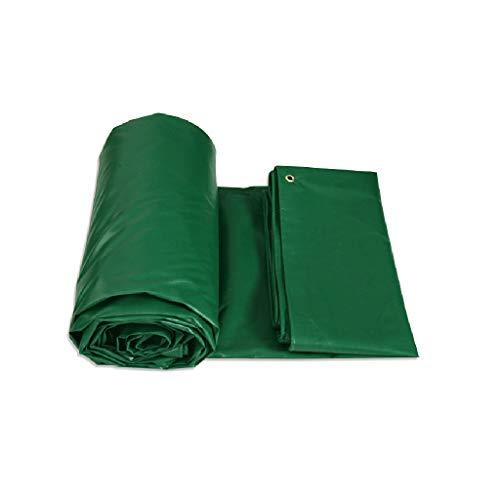 GY Tarpaulin-Tarpaulin Bâche Anti-déchirure avec œillets et Bords renforcés/Vert / 4 Tailles /+-+/ (Taille : 4m*4m)