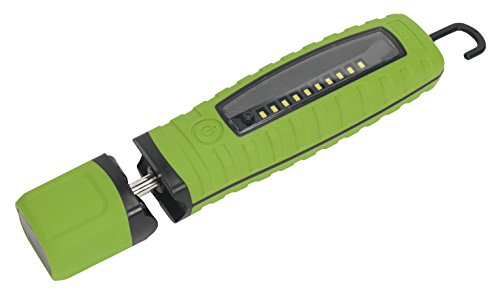 SEALEY CORDLESS 360° 10 SMD + 3W LED RECHARGEABLE INSPECTION LAMP GREEN LITHIUM-ION