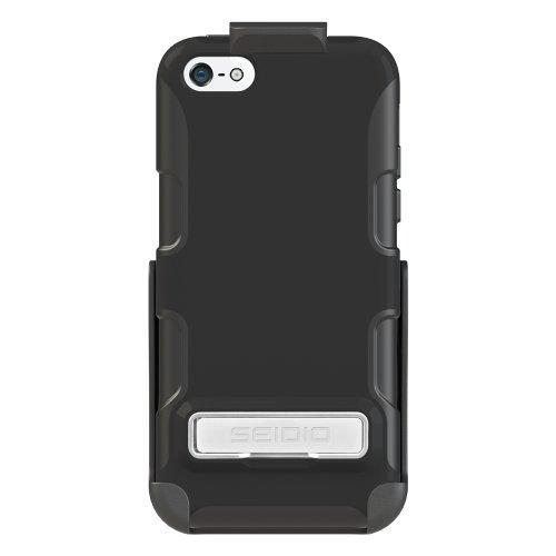 Seidio - Custodia attiva con cavalletto in metallo e Holster Combo, per Apple iPhone 5C, colore: