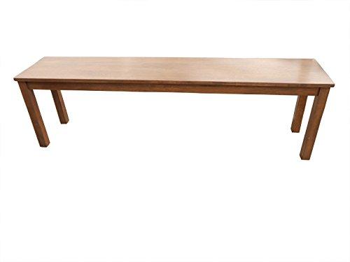 SAM® Sitzbank Tom II, aus Akazie, 100 x 33 cm, nussbaumfarbig, naturbelassene Optik, mass