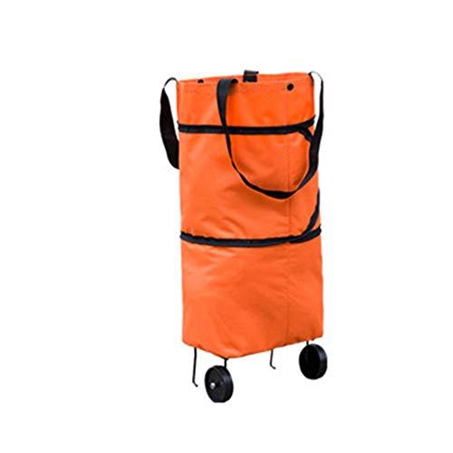 Candyboom Faltbare Einkaufstrolley, rollende zusammenklappbare Einkaufstaschen auf Rädern, Einkaufstüten Dolly Bag für Picknick Strand Gepäck Reisen -