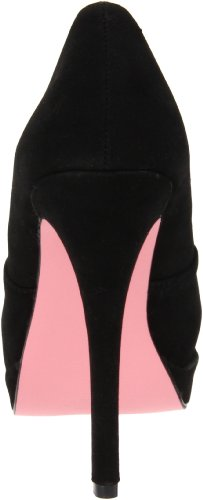 Pleaser USA Shoes - BELLA-10 - 40 - Daim Fuschia, Red Sueded Pu, 36 EU Noir