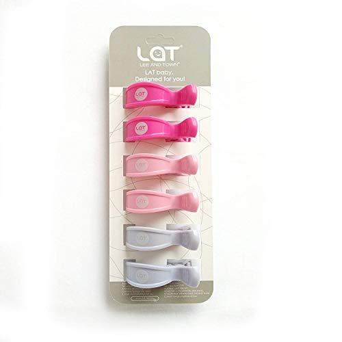 LAT Klammer-Clips (6er-Paket) zur Befestigung von Musselintüchern, Abdeckungen, Decken oder Spielzeug an Kinderwagen oder Autositz(Mädchen) - Mädchen Spielzeug Autositz