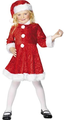 Per bambine Mini da Babbo Natale Mrs Claus Babbo Natale Festive taglia adulto (Mrs Claus Für Kostüm Kinder)