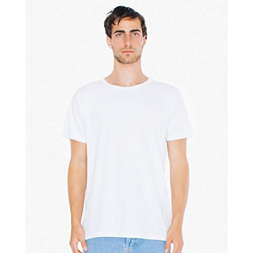 American Apparel Unisex Power Wash T-Shirt (S) (Weiß) (American Apparel-track Shirt)