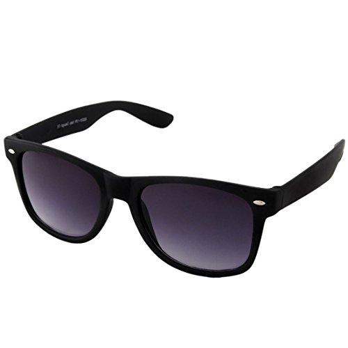 Poloport Black Frame Dark Grey Shade Lense Wayfarer Elegant Sunglasses WF01