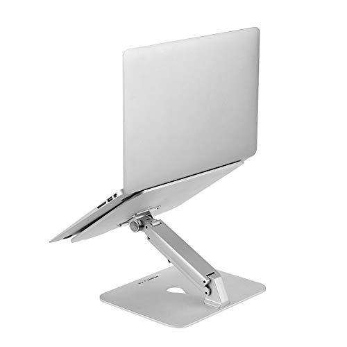 METTE Laptop-Ständer, ergonomisch Verstellbarer Laptop-Ständer aus Aluminiumlegierung mit Apple MacBook, Air, Pro, HP, Samsung, Allen Laptops von 10 bis 17 Zoll, bis zu 30 Pfund, Silber, Bürogeschenk