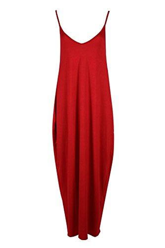 Fashion Star Womens Strappy Sleeveless Baggy Italian Lagenlook Long Maxi Dress