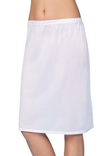 VEDATS Damen Unterrock Halbrock Unterkleid Jupon Knielang Schwarz Weiß Hautfarben S M L XL (S, (Korsett Schwarzes Schlichtes)