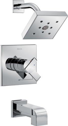 Delta Wasserhahn Delta Ara Monitor 17Serie Badewanne und Dusche Trim, T17467 (Delta Monitor Dusche)