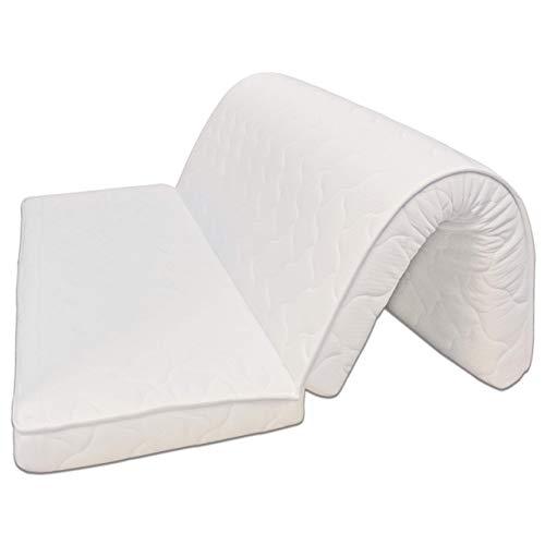 Baldiflex Matelas BZ pour canapé lit Brio 140x190 cm, Mousse, avec 2 Plis, Épaisseur 10 cm, Revêtement Coton Orthopédique, Anti acarien