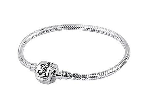 Silverado Argent sterling 3.0mm 22,1cm Perle Bracelet