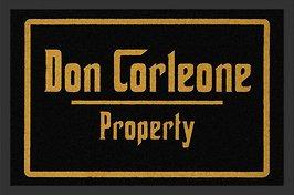 Preisvergleich Produktbild Fussmatte Don Corleone Property ! Fußabtreter Godfather Der Pate Türmatte Fußmatte Schmutzmatte Schnutzfangmatte