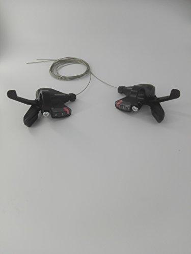 Shimano Schalthebel SL-M310 3x7 Set 21 Gänge inkl. Schaltzüge schwarz Altus -