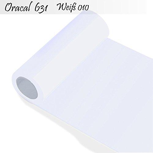 Oracal 631 Orafol matt - für Küchenschränke - Dekoration/Autobeschriftung/Schutzfolie Folie 5m - Breite 100 cm - Farbe 10 - weiß - Markierungen, Beschriftungen und Dekorationen - Klebefolie