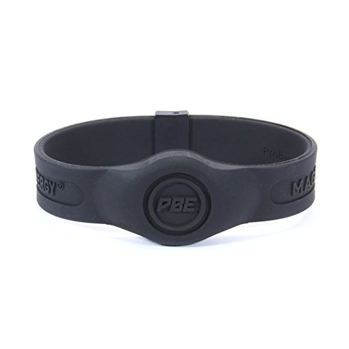 eab72fb9729bd Pro Balance Energy® Sport Magnetic Therapy Wristband Magnetic Field  Black/Black, Large (20.5cm)