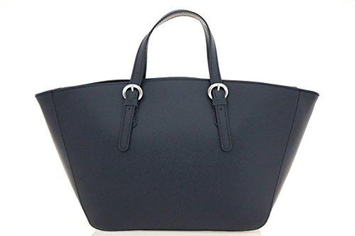 DesiDo® Italienische Designertasche XXL Shopper Bag Damen Leder Echtleder Flechtmuster große Handtasche Tasche Henkeltasche gewoben mit Innentasche Reißverschluss 42cm x 25cm x 14cm (Schwarz) (Klassische Handtasche Chloe)