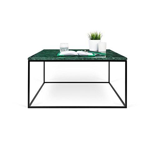 Paris Prix - Temahome - Table Basse Gleam 75cm Marbre Vert & Métal Noir