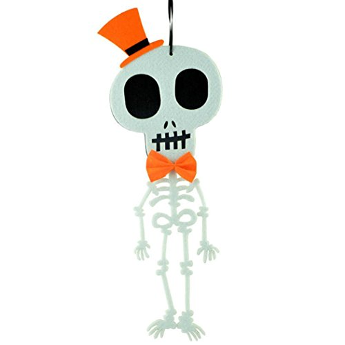 Zolimx Kreative Anhänger Halloween Schädel Filztuch