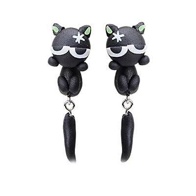 Toporchid Stud Earrings Animal Earrings Soft Pottery Handmade Earrings For Girls Women