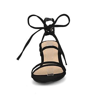 LvYuan Da donna Sandali Comoda Cinturino alla caviglia Finta pelle Estate Casual Formale Comoda Cinturino alla caviglia QuadratoNero Beige Yellow