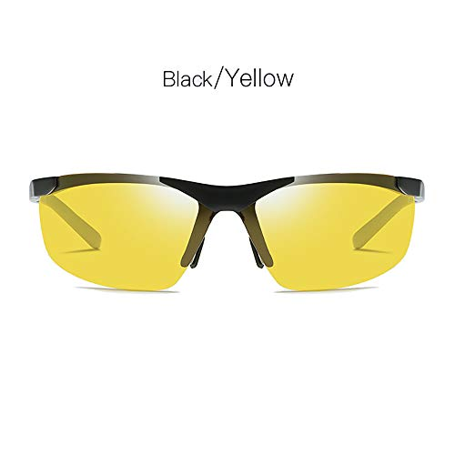 LDQLSQ Aluminium-Magnesium Polarized Sonnenbrille Outdoor Riding 6806 Driving Sonnenbrille Night Vision Brightening Driving Glasses Rivet Frame Color Coating Tone,Gray