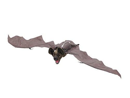 Animatronic Halloween Fledermaus 0,9 Meter Spannweite Leuchtaugen, Flügelbewegung (Animatronics Halloween)