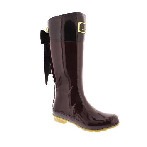 Joules Womens Evedon Rubber Boots Burgundy
