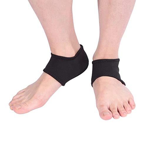 Beschützer Plantarfasziitis-Fußabsatz- und Fußgewölbestützhülse (4 PAARE - 8 STÜCKE) - Stoßabsorbierende, atmungsaktive Fersenschutzsocke zur wirksamen Schmerzlinderung bei Plantarfasziitis - Fußpfleg