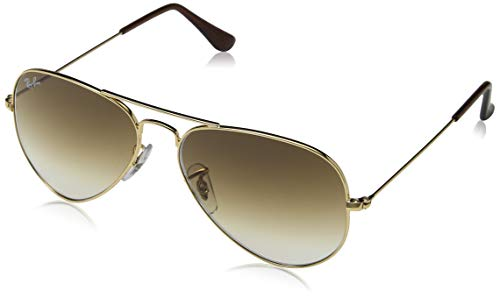 790e70bd83 Ray-Ban Aviator Large Metal - Gafas de sol Unisex, Dorado (Crystal Brown