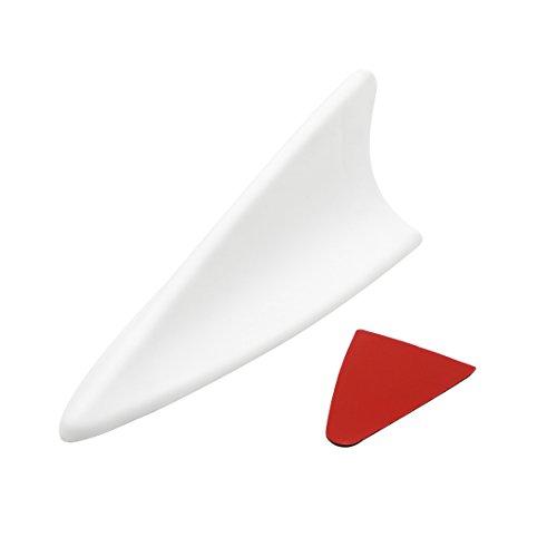 sourcing map Kunststoff Auto Haifischflosse Stil Attrappen Dachantenne Antenne Dekorativ Weiß DE de