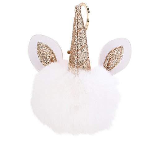 Firally portachiavi con sfera di capelli carino bello casual squisito piccolo ornamento appeso regalo regalo di san valentino regalo di laurea pendente di keychain(bianca)