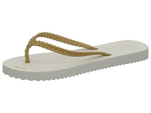 Flip-FlopT SLIM CHICA White/Gold