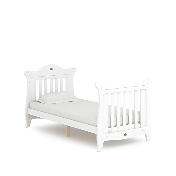 Boori SleighExpandableTM- Barley Boori Converts from cot bed to toddler bed - toddler guard panel sold separately Converts to a full size single bed -L 197cm W 108cm H 110cm-expandableconversion kit included Built from solid australian araucaria 4