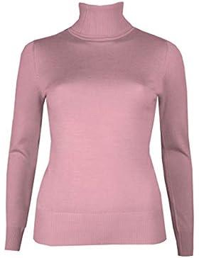 Brody & Co. Jersey de cuello alto para mujer, cuello de punto fino, jersey de invierno