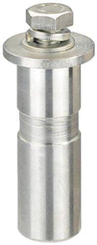 MONACOR PAST-22/CR TV-Zapfen mit Befestigungsplatte Metallisch