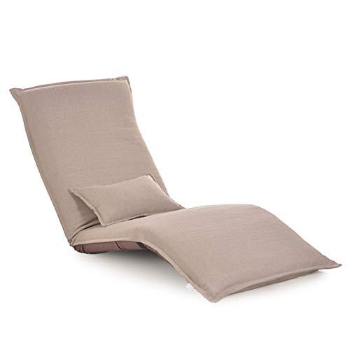 Tlmydd pieghevole divano letto singolo in tessuto, divano letto e balcone divano pigro (colore : cachi)