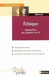 Ethique : Appendices aux parties I et IV