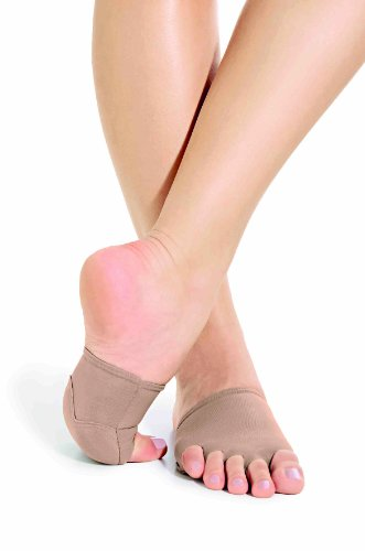 So Danca Afro Halbsohle / Mittelfuß-Schoner, Stretch Nylon ( MD18 ) CK tan