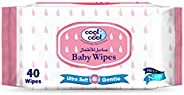 Cool & Cool Baby Wipes 40 Sheets (Regu