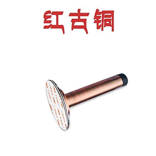 Preisvergleich Produktbild TDOPU Edelstahl tür Oben tür Widerstand tür zahnrad Gummi kollisionsschutz Zylinder Vinyl,  rot Bronze