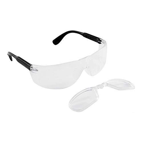 Babimax Schutzbrille Sicherheitsbrille aus Kratzfestem PC, UV Schutz, Anti-Nebel, Seitenschutz, Anti-Beschlag, Rutschfeste und Verstellbare Bügel, für Labor, Chemie, Baustelle, Radfahren, Outdoor
