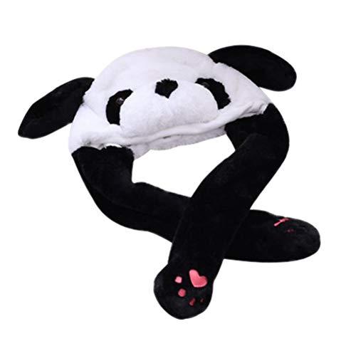 üsch mit Ohren Panda Cap Winter Warm Plüsch Tier Ohrenschützer Mützen für Kinder Erwachsene ()
